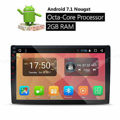 "10.1""Android 7.1 Car Stereo 2Din Truck Sat Nav WIFI 2GB RAM Navi In Dash Double"