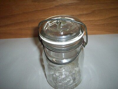 """Vintage The Perfect Seal Adjustable Round Fruit Jar Sealer (5 1/2"""" Tall) Canada"""