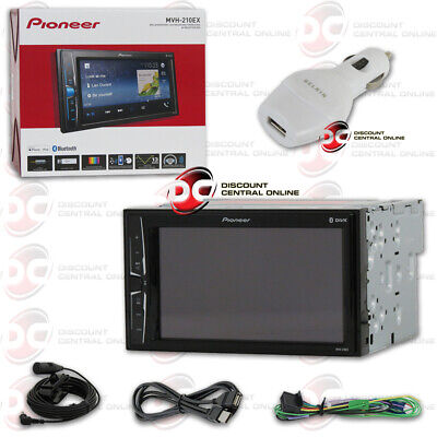 "Pioneer Mvh-210Ex Car 2-Din 6.2"" Touchscreen Usb Digital Media Bluetooth Stereo"