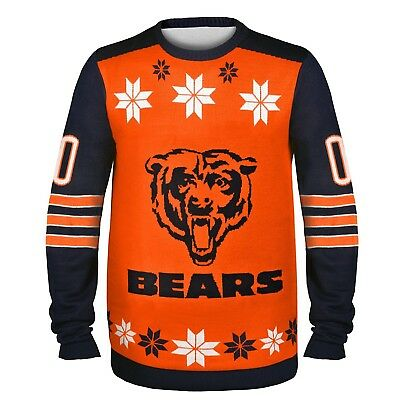 (1) New,In Sealed Bag - Chicago Bears - NFL -Ugly Christmas Sweater -Large