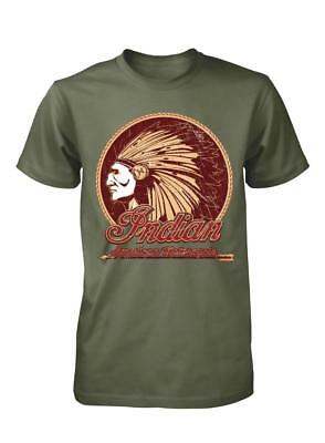 Indian Motors Tribe Motorcycles Bikers Riders Adult T-Shirt S-Xxl