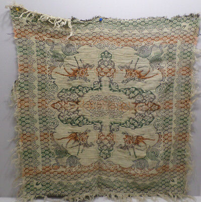 """Antique Table Scarf Hand Loomed  28""""  x  27"""""""