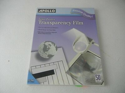 Apollo Laser Printer Transparency Film CG7060 NEW!!