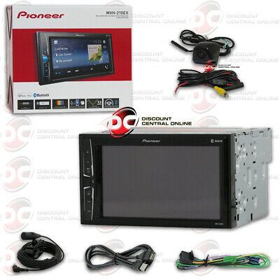 "Pioneer 6.2"" Digital Media Bluetooth Car Stereo Free Black Keyhole Backup Camera"