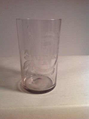 Antique Vintage Whisky  Geo T Stagg Frankfort Kentucky O. F. C. Drinking Glass