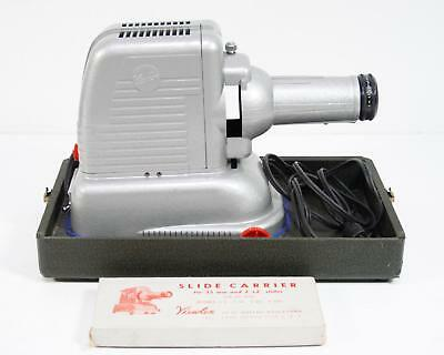 Vintage Viewlex V-33 Projector Air Cooled With Case
