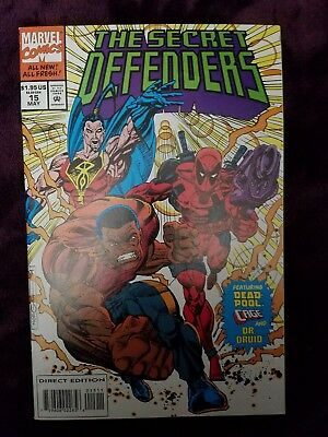 The Secret Defenders #15 Early Deadpool With Trading Cards 1994 Marvel