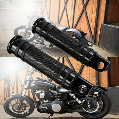 CNC Knurled Rear Front Foot Peg For Harley Touring Sportster Softail Dyna Black