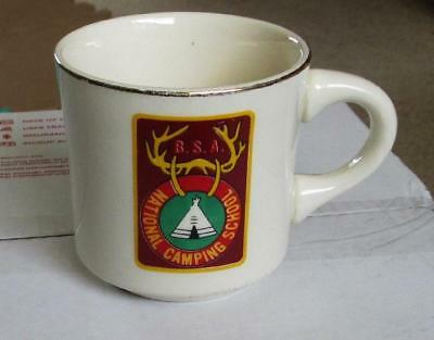 Vintage B.S.A.  Boy Scout Coffee Mug National Camping School Made in USA