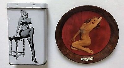 (2) MARILYN MONROE tin and tip tray