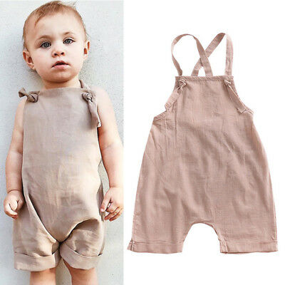 Toddler Kids Baby Boys Overall Harem Straps Romper Playsuit Outfit Shorts Summer
