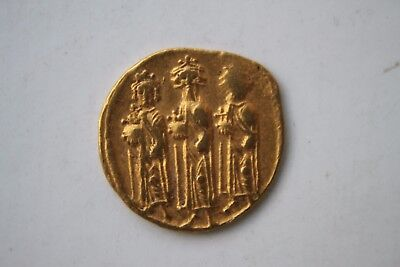 ANCIENT BYZANTINE GOLD COIN HERACLIUS. SOLIDUS 610 - 641 A.D. 'Three Kings'