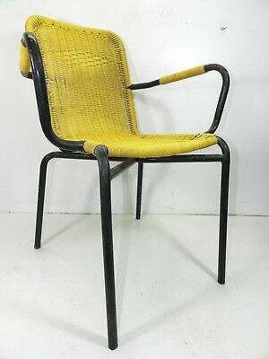 armchair from BAR 60's chair plastic woven vintage modern antiques armchair