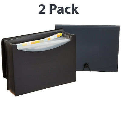 Document Storage Expanding 2 Pack File Folder Pockets Letter Size Organizer