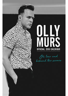 Olly Murs Official A3 Calendar 2018 (Brand New/Sealed/free P&P)