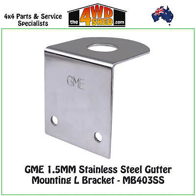 GME 1.5MM Stainless Steel Antenna Mounting L Bracket - MB415SS