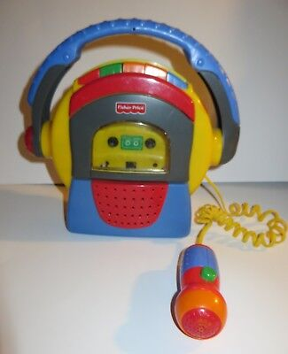 VINTAGE 1999 Fisher Price Tape Cassette Player Recorder Tuff Stuff w/ Microphone
