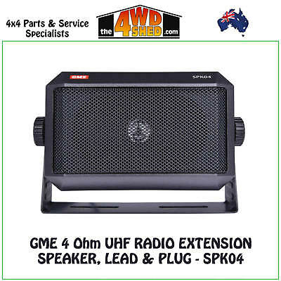 GME 4 Ohm UHF Radio Extension Speaker, Lead & Plug - SPK04