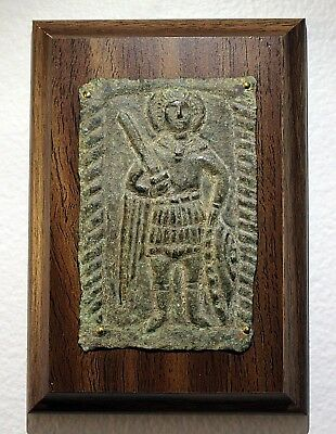 Byzantine Bronze Plaque/Icon Saint George  4th-6th Century
