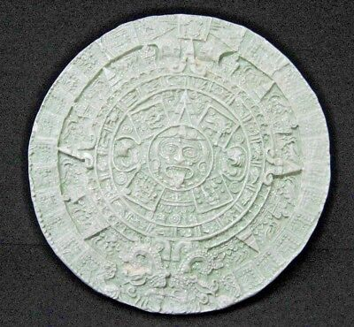 Light green glitters AZTEC calendar Stone of the Sun wall plaque 10.5 inches