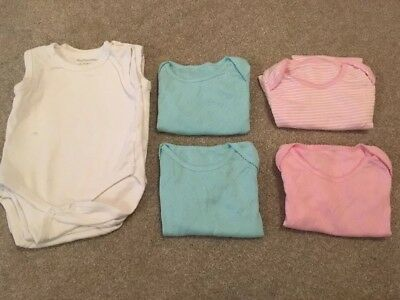 8 X Sleeveless Baby Vests 18-24 Months
