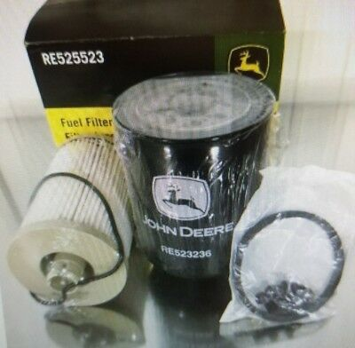 John Deere OEM part # RE525523 fuel filter kit element set tractor combine etc