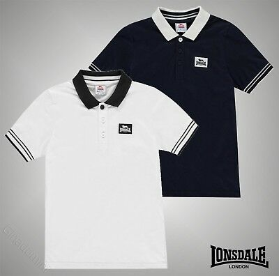e34014524 Junior Boys Branded Lonsdale Lightweight Jersey Polo Shirt Top Size Age 7-13