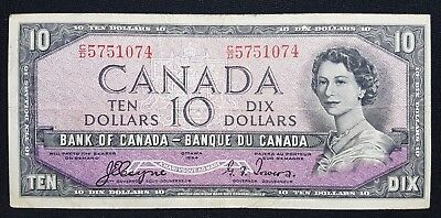 1954 Canada $10 Bank note - Devil's Face - See Photos - N-244