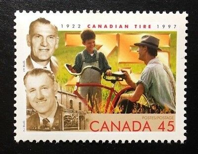 "Canada #1636i ""through D"" HF MNH, 75th Anniversary Canadian Tire Stamp 1997"