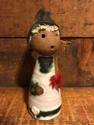 Vintage Scandinavian Art Pottery Girl Figurine Sculpture Signed