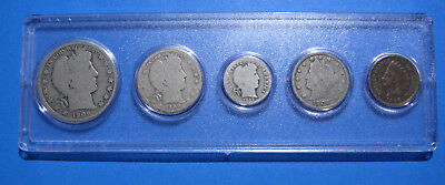 US Coins of the 1900's Five Coin Type Set 90% Silver