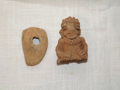 Pre-Columbian Clay Fragments, Mayan Effigy Fragment, Natual Pendant