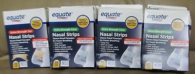 V ariety Lot of 20 Equate Nasal Strips Clear &  Tan Extra Strength...Large