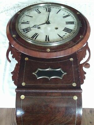 large 19th century drop dial wall clock for restoration