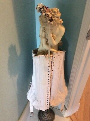 Antique 1800's Corset, Heavy Cotton, All Original with all Parts