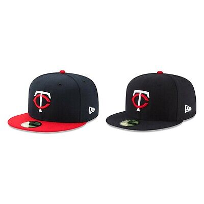 8be92640e8bae Minnesota Twins MIN MLB Authentic New Era 59FIFTY Fitted Cap - 5950 Hat Navy  Red
