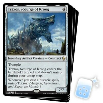 Traxos, Scourge Of Kroog X4 M/NM Magic: The Gathering MTG Dominaria