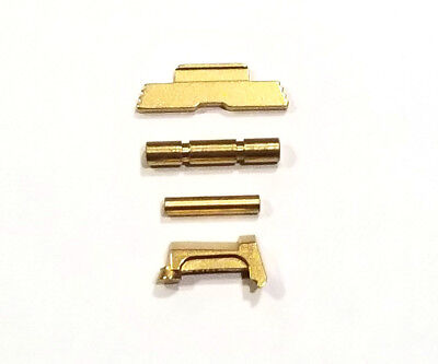 CDS EXTENDED SLIDE Lock Lever + Pins + Extractor For GLOCK G42 And G43 Gold  TiN