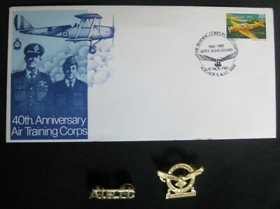 Vintage Air Training Corps (AIRTC) Memorabilia - insignia & 40th Anniversary Fir