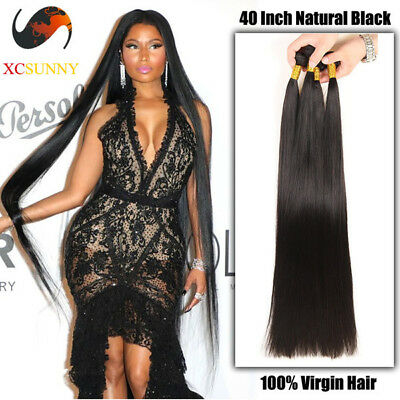 RAW Virgin Quality Brazilian Peruvian&Cambodian hair 28 To 40 Inch Straight 10AA