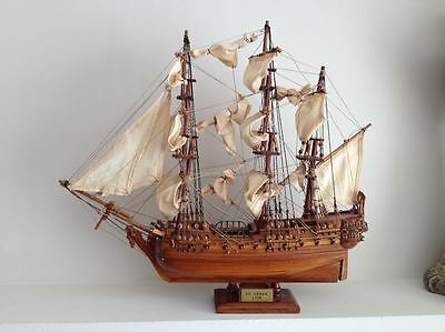 Collectible antique vintage boat St-Geran 1736