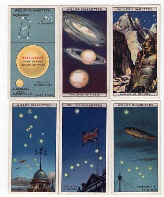 6 Antique Astronomy Cards from 1928 Betelgeuse & Aldebaran Evolution of a Star +