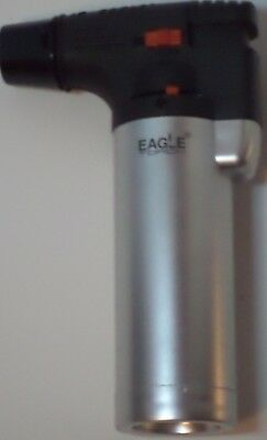 Eagle Torch Refillable Windproof Jet Lighter Color Sliver Size 4 inches