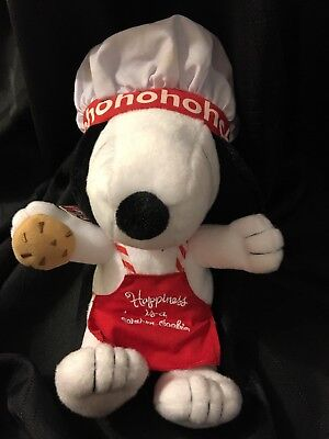 XKT5000 Happiness is a Warm Cookie Hallmark Chef Snoopy Plush