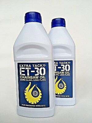2 Ltrs EXTRA TACKY CHAINSAW OIL Chain Oil Guide Bar Pump for all Saw makes100Cst
