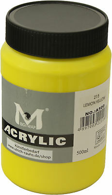 500 ml Magi Künstler Acrylfarbe lemon yellow 215