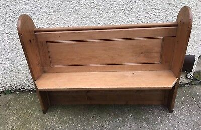 Solid Pitch Pine Small Church Pew