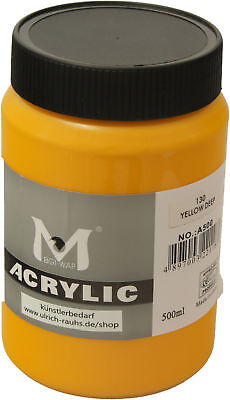 500 ml Magi Künstler Acrylfarbe yellow deep 130
