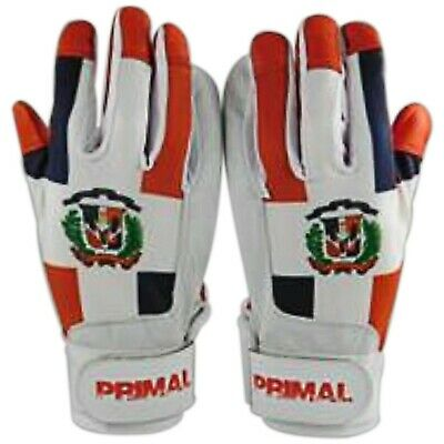 Dominican Republic Baseball Batting Gloves Size Extra Large By Primal Baseball