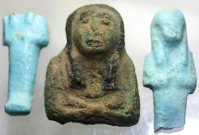 Faience shabti or figure fragments - possibly Egyptian